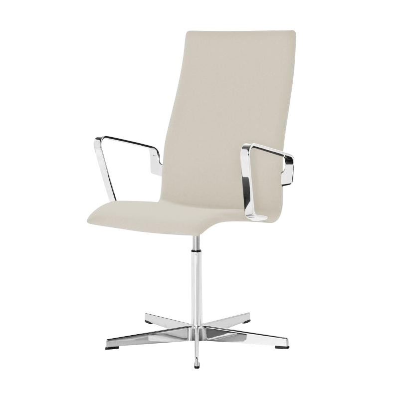 office chair height high 3 in 1 fritz hansen oxford armchair ambientedirect natural fabric tonus seat