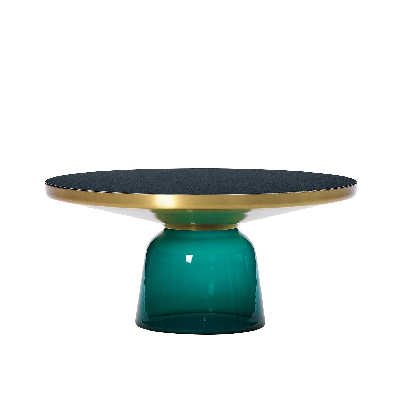 bell coffee table brass