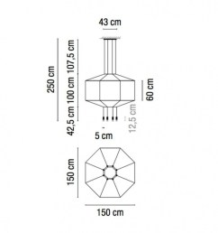 vibia wireflow 0299 led suspension lamp line drawing [ 888 x 888 Pixel ]