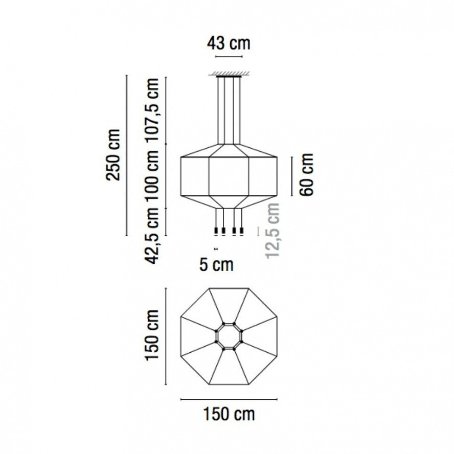 medium resolution of vibia wireflow 0299 led suspension lamp line drawing