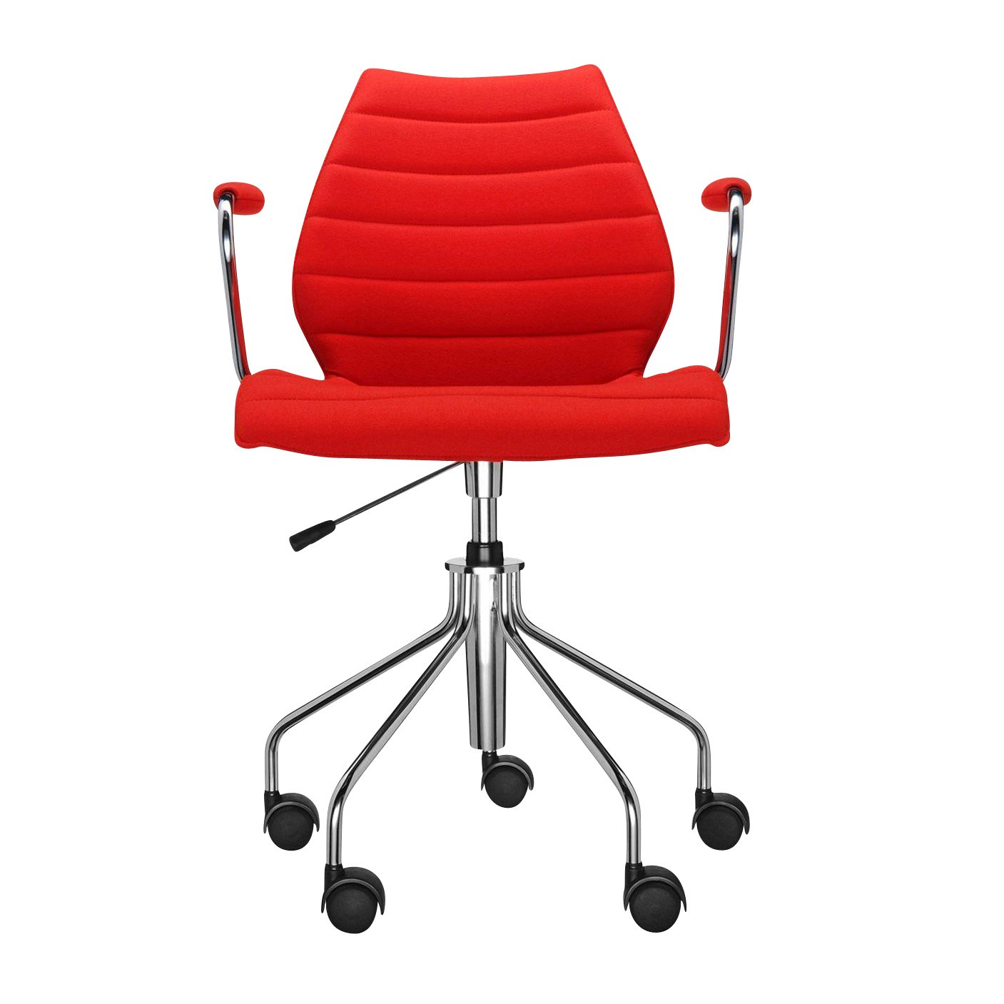 Red Desk Chair Maui Soft Office Chair With Armrests