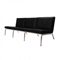 3 Seater Sofa Black Leather Sectional Convertible Norr 11 Man Lounge Ambientedirect Premium