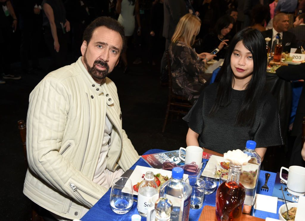 Nicolas Cage and Riko Shibata at the 2020 Film Independent Spirit Awards February 08, 2020 |  Photo: Getty Images
