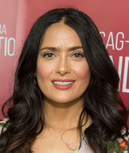 Salma Hayek, 54, Gets Ready for the Week Posing in a Pink ...