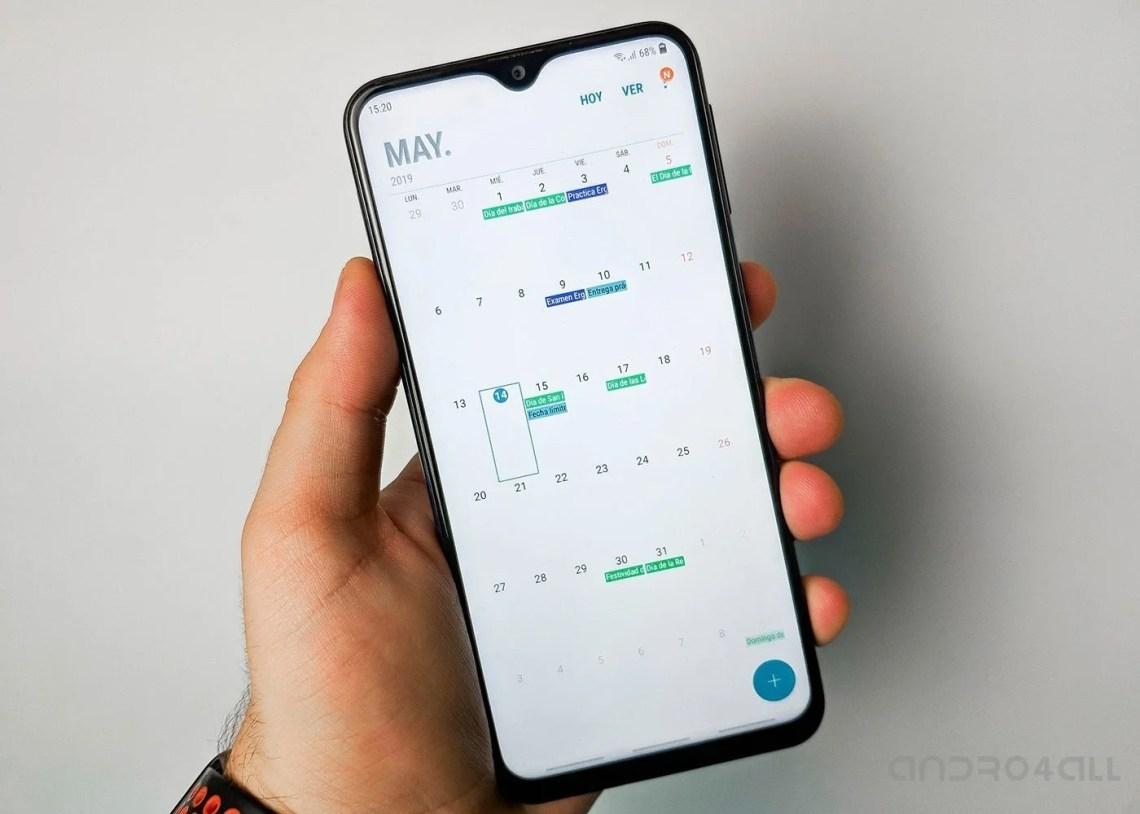 Samsung Galaxy A50 calendario