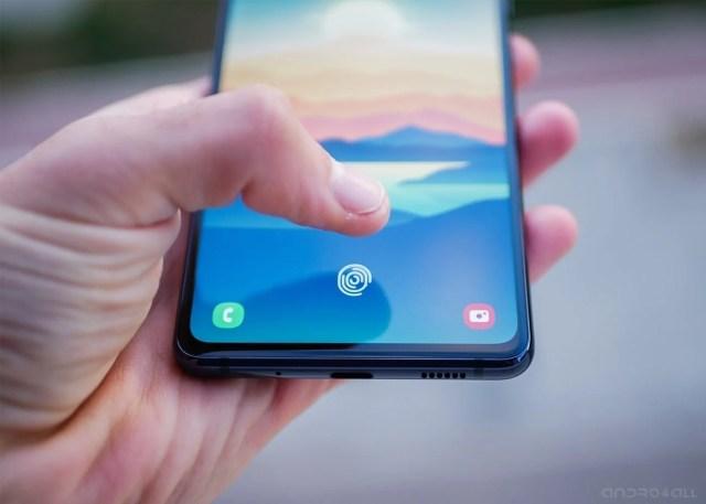 Lector de huellas en pantalla del Samsung Galaxy S20 FE