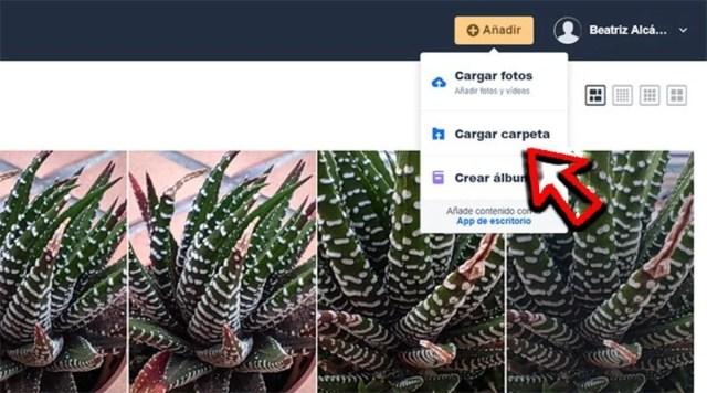 Subir fotos a Amazon Photos