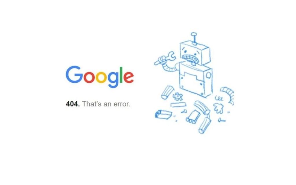 Google caído. Errores en Google.