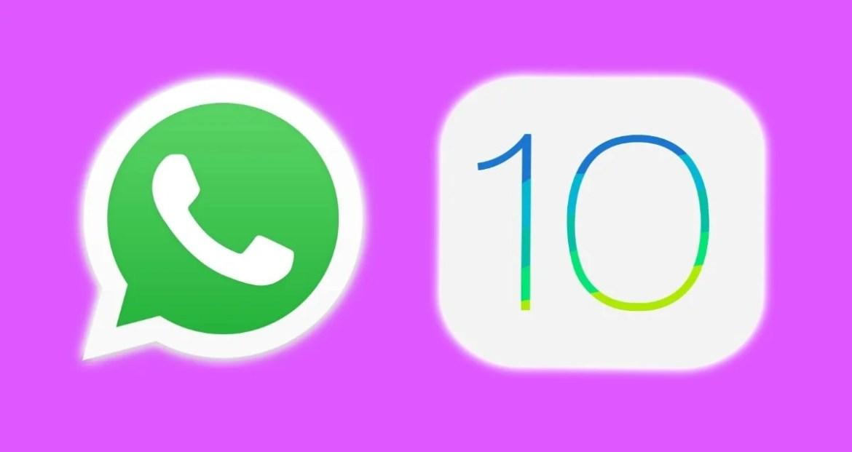 Si tienes una versión anterior a iOS 10 en tu iPhone, olvídate de seguir usando WhatsApp