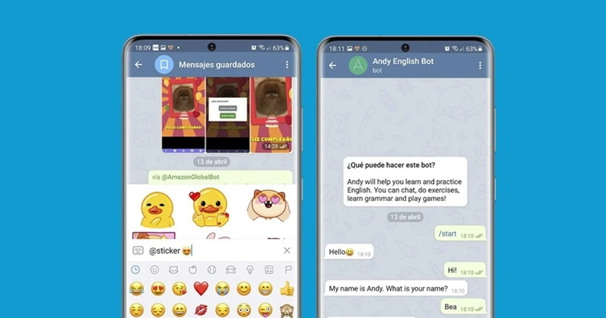 Bots inline e independientes de Telegram