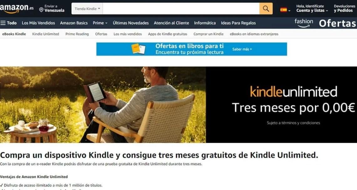Hasta 3 meses gratis con la compra de un dispositivo Kindle