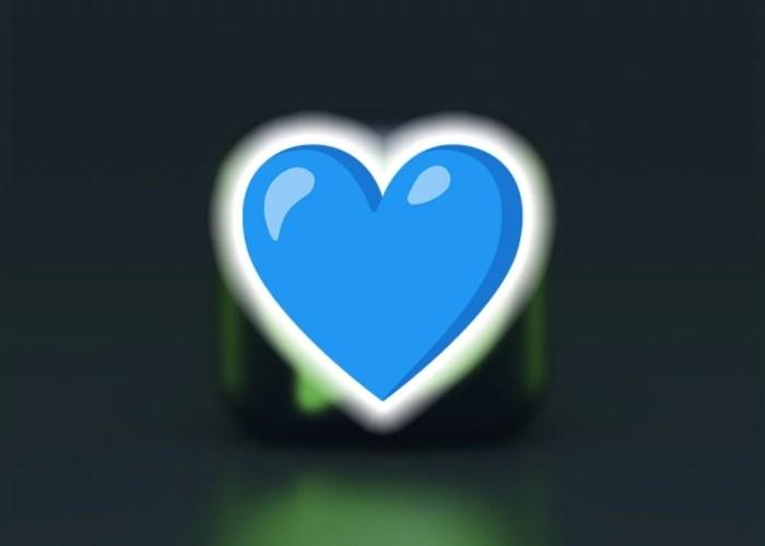 Emoji de corazón de color azul