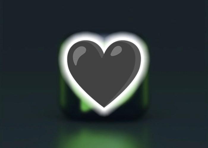 Emoji de corazón de color negro en WhatsApp