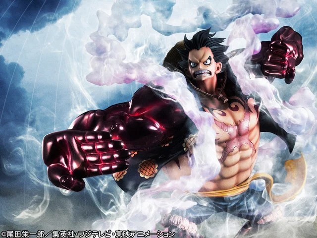 Banpresto one piece king of artist the monkey.d.luffy gear4 wanokuni 16814 action. Luffy Unleashes Gear Fourth Technique In New Portrait Of Pirates Figure Interest Anime News Network