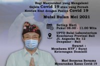 Mei, Bali gratiskan biaya swab PCR bagi masyarakat bergejala COVID-19