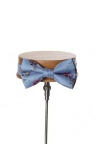 Tea rose vintage wedding bow tie blue - Anthony Formal Wear