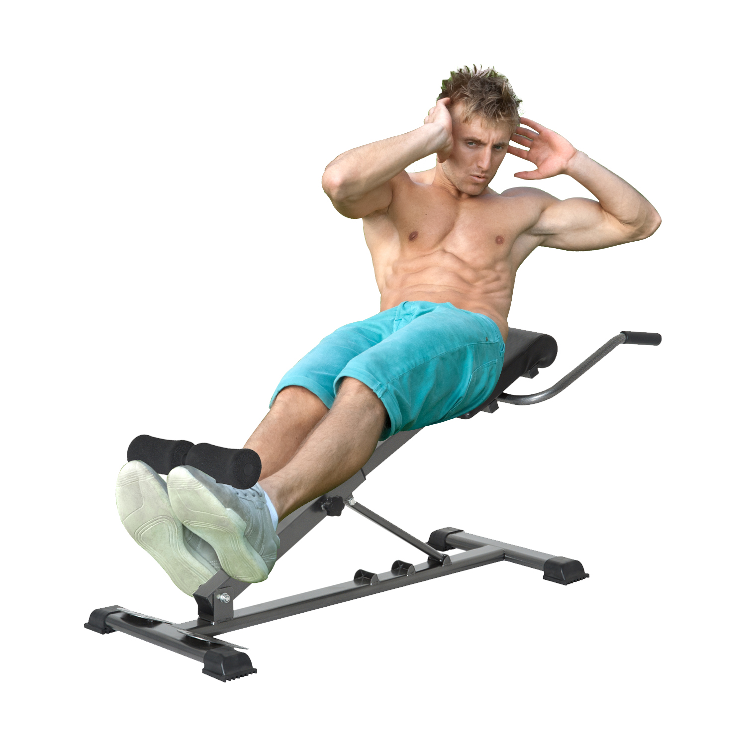 roman chair back extension muscles hammock stand diy cad 129 99 soozier adjustable hyperextension folding abdominal bench exercise machine home gym fitness canada 25093580093