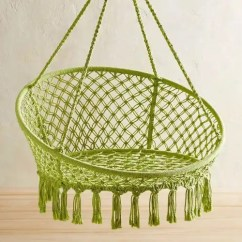 Hanging Chair Restoration Hardware Leather Campaign The Best Chairs Apartment Therapy Pier1 Macrame Saucer