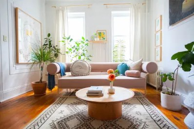 apartment therapy living room white leather couches decor rules worth breaking image credit elaine musiwa