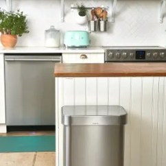 Kitchen Trash Beige Cabinets Deodorize Can Best Way Kitchn Image Credit Joe Lingeman