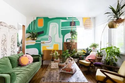 wall mural ideas for living room apartment decorating with tv diy decor therapy