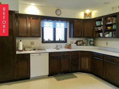 colorful kitchen cabinets rustic hickory before after paint your for a new look image credit avery of holland avenue home