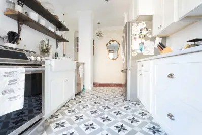 cement tile kitchen combo the pros and cons of trend apartment therapy