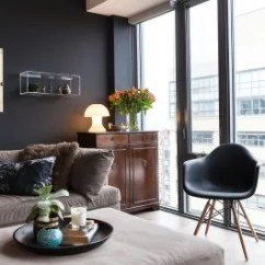 Living Room Design Tool Open Shelving Why Black Walls Are An Interior You Should Use Apartment Therapy