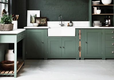 green kitchen cabinets fabric chairs 2018 paint trends cabinet color predictions apartment a deep from neptune