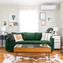 How To Make Mismatched Living Room Furniture Work Wall Mounted Tv Design Mix Multiple Wood Finishes Apartment Therapy
