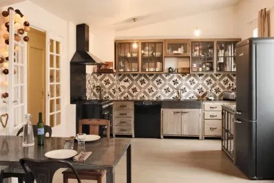 kitchens for less kitchen counter materials cheap airbnb stylish photos around the world kitchn