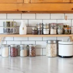 Metal Kitchen Shelf Professional Accessories Easy Ways To Create Extra Counter Space In A Tiny Kitchn