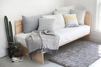 diy daybed sofas leather sofa sacramento small space solution double duty daybeds apartment therapy
