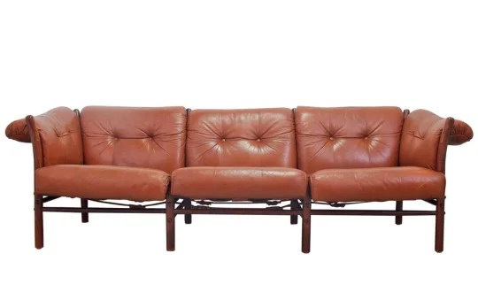 modern brown leather sofa sectional sofas boston shopping guide to the best apartment therapy arne norell model ilona