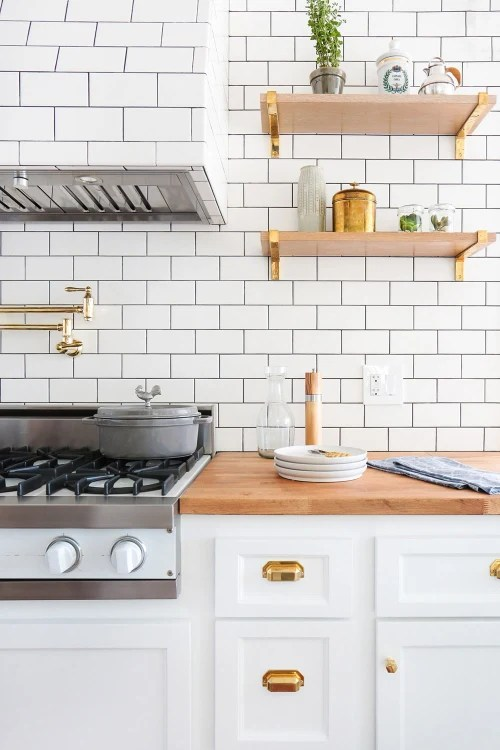 gold kitchen utilities look we love the white apartment therapy image credit stefani stein