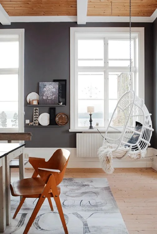 hanging chair in living room fishing for sale uk bring the outdoors hammocks chairs image credit style files