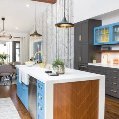 Colored Kitchen Islands Space Saving Ideas Colorful Trend Island Design Apartment 1 Bright Blue