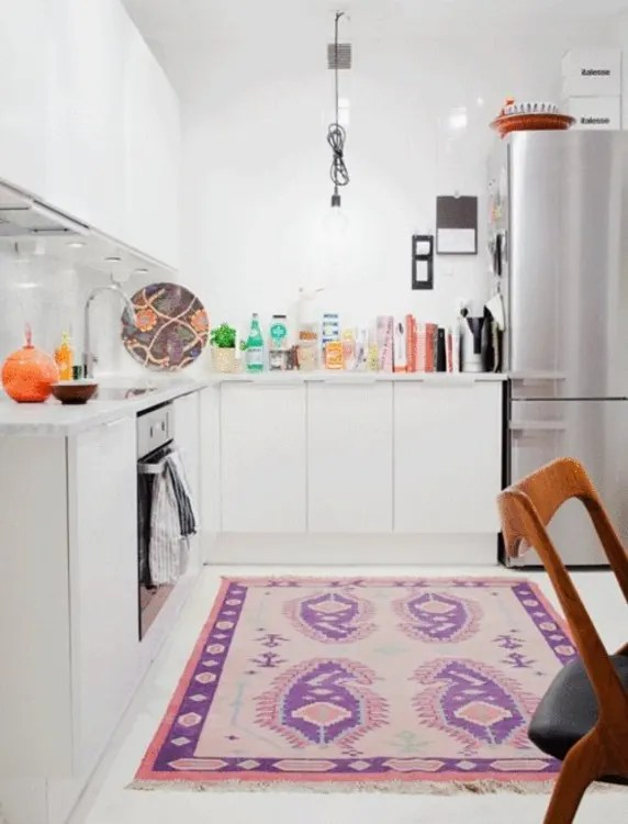 rugs for kitchen cheap used cabinets in the yea or nay apartment therapy image credit plaza interior