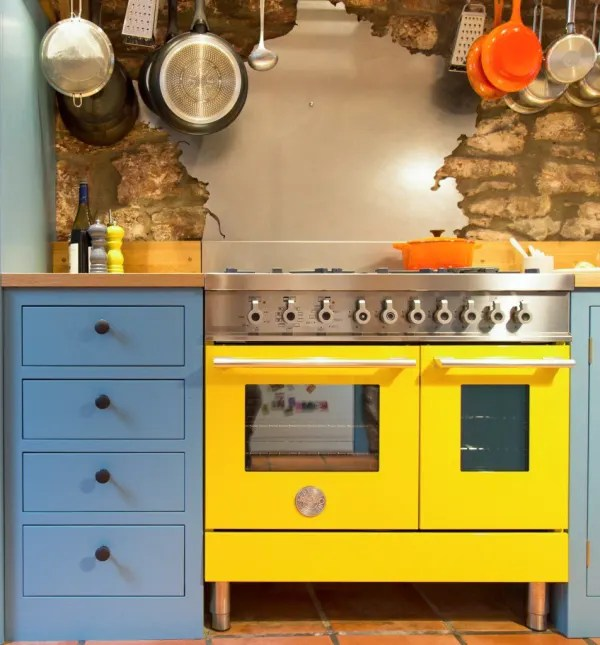 kitchen ovens reclaimed wood tables 10 bright amp colorful kitchn image credit sustainable kitchens