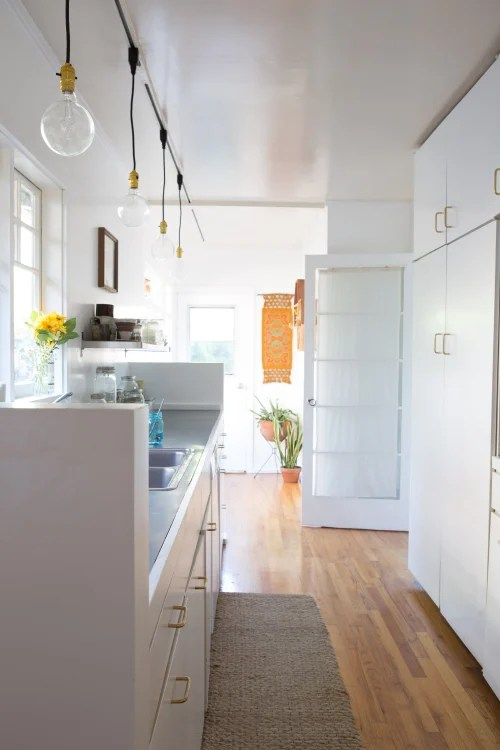 kitchen track lighting ikea sink diy solution apartment therapy