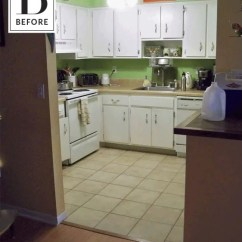 Kitchen Remodel Budget Vinyl Flooring Before After A Diy On 6k Apartment Therapy
