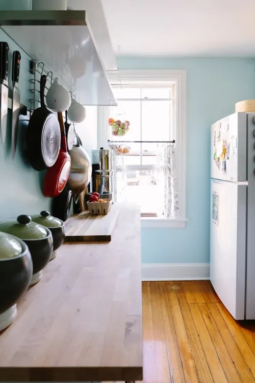 kitchen island counter stainless steel doors for outdoor small ideas apartment therapy mimic a long narrow countertop