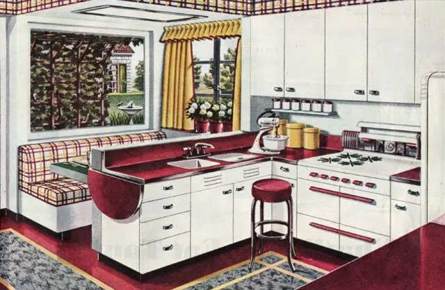 kitchen banquette metal table built in benches add smart seating apartment therapy a 1945 featuring breakfast booth from mid century home style
