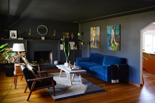 how to paint your living room design my color scheme black wall inspiration apartment therapy image credit esteban cortez