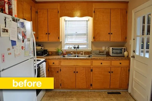 kitchen on a budget sherwin williams cabinet paint colors before amp after super makeover for 500 kitchn
