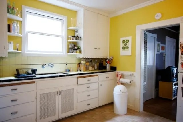 kitchen walls old fashioned sinks the best paint finish for kitchn i recently moved into a new apartment and my head is spinning with everything want to do make space own m especially focused on