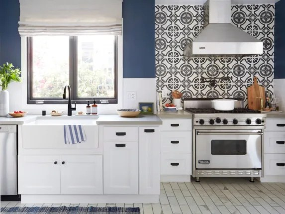 cement tile kitchen real wood cabinets remodeling ideas modern tiles shopping sources apartment therapy