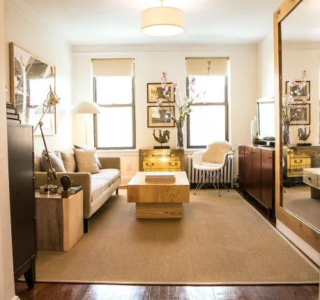 living room bed ideas desk small space solutions murphy amp inspiration garrett the winner of 2013 s cool contest maximizes in his 340 square foot new york apartment with a