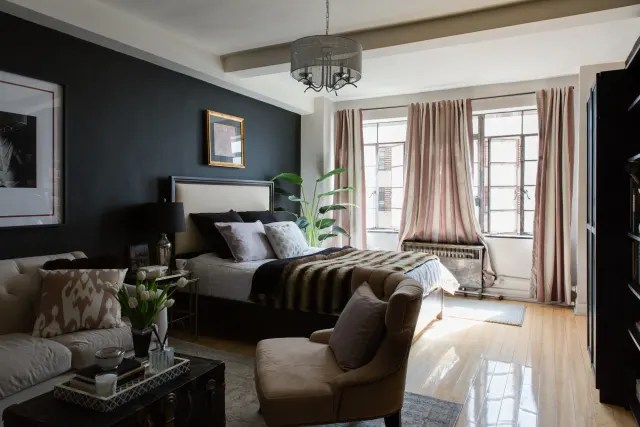 decorating ideas for living rooms with grey walls room floor mattress design tips painting dark in small apartment therapy image credit minette hand