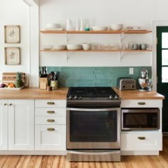 Kitchen Open Shelves Cabinets Wood Shelving Advice Secrets Apartment Therapy Image Credit Minette Hand